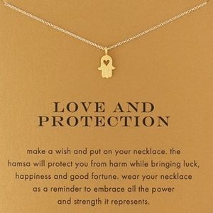 Jewelry - New💕 Love and Protection Hamsa Necklace Card Gift